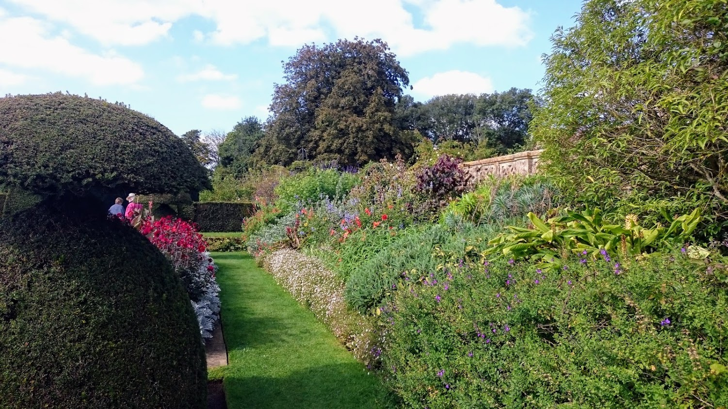 Autumn borders at Hinton Ampner